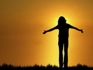 standing sunset