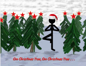 stick figure tree xmas