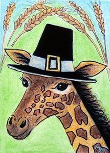 thanksgicing giraffe